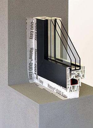 Perfekte Fensterabdichtungen mit dem HANNO-Fensteranschluss System.