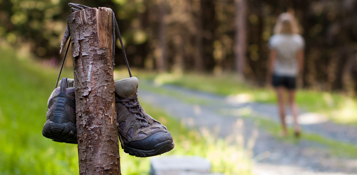 Das Ibmer Moor ist der ideale Ort, um die Welt auf bloßen Füßen zu erkunden.