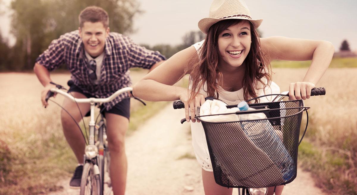 Auch der Spaß auf zwei Rädern kommt rund ums Ibmer Moor nicht zu kurz.
