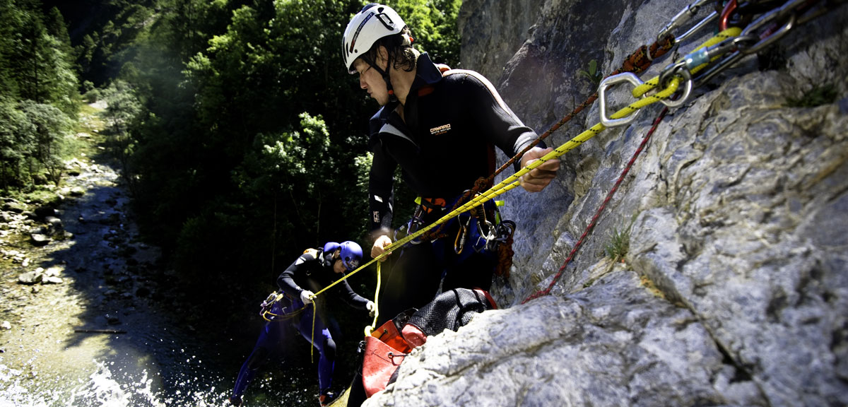 Canyoning für Abenteuerlustige.